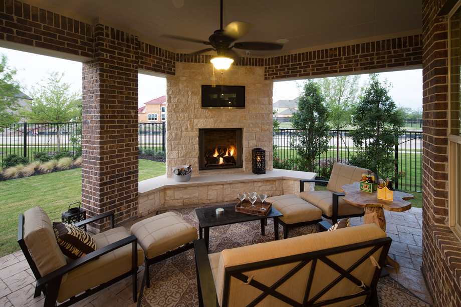 Outdoor Patio Corner Fireplace Image Of Imagehouse Co